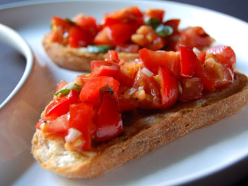 Receta de bruschetta de tomate