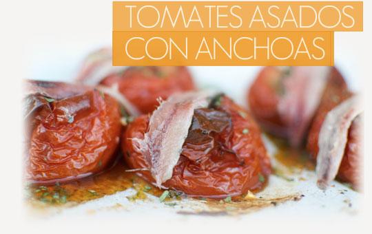Receta de tomates asados con anchoas con el sabor más gourmet