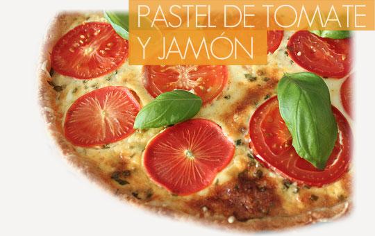 Receta de pastel de tomate y jamón con el sabor más gourmet