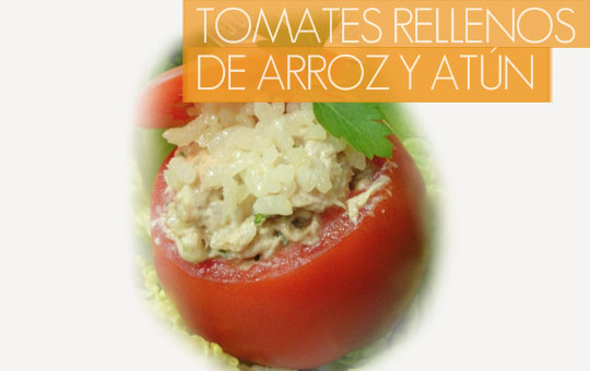 Receta de tomates rellenos de arroz y atún con el sabor más gourmet