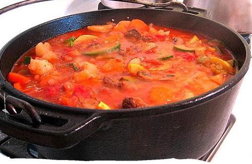 Receta de estofado de tomate